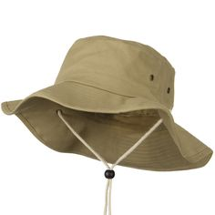 Big Size Cotton Australian Hat - Khaki