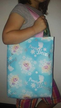SALE Elsa fabric activity bag pink lining and by lisalynnitems