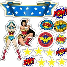 Topo Wonder Woman Birthday, Wonder Woman Party, Wonder Woman Comic, Anniversaire Wonder Woman, Birthday Cards, Birthday Parties, Superhero Party, Xmas Party, Kids Cards