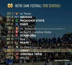 Notre Dame Football whooo come on sept