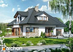 Dom w czarnuszce 2 Home Building Design, Building A House, House Design, House Extensions, Facade House, Design Case, Home Fashion, Modern Classic, Architecture Details