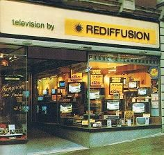 Rediffusion, we all rented Televisions. The controls were fixed to a wall and changing channels involved schlepping from comfy sofa to switch and back again. Oh the trauma!