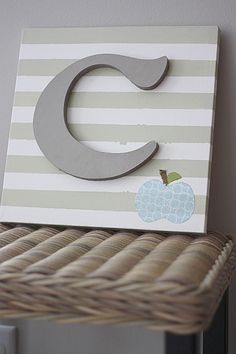 painted canvas with letter...so easy and cute