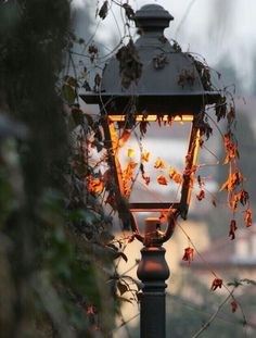 I love lamps like this in Autumn