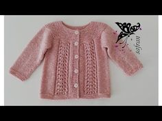 KAR TANESİ BEBEK HIRKASI I Safran Knit - YouTube Dresses Kids Girl, Kids Outfits, Knitting Designs, Knitting Patterns, Baby Pullover Muster, Baby Sweater Patterns, Baby Cardigan, Baby Sweaters, Crochet Videos