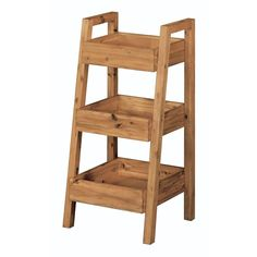 Home Decorators Collection Bredon 16 4/5 in. L x 37 in. H x 18 in. W Freestanding 3-Tier Bathroom Shelf in Rustic Natural