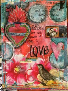 Love - Art Journal Page by tattytrailer