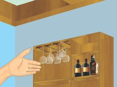 How To Make A Hanging Wine Glass Rack