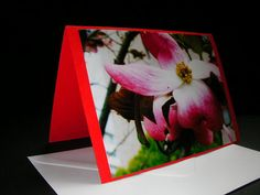 Flaming Flowers. Blank greeting card. £1.50
