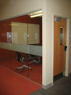 Glass enclosed breakout space