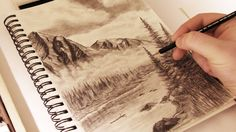How to Draw - Mountains in the Mist w/ Commentary