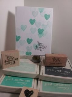 Stampin Up!  Work Of Art - love the ombre hearts