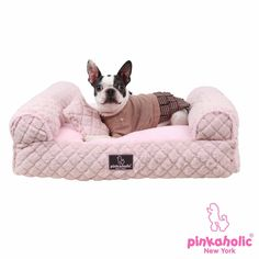 Arctic Sofa Dog Bed by Pinkaholic - Pink