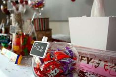 Retro 80's/90's Corporate holiday party sweets table