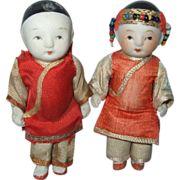 Antique Japanese dolls