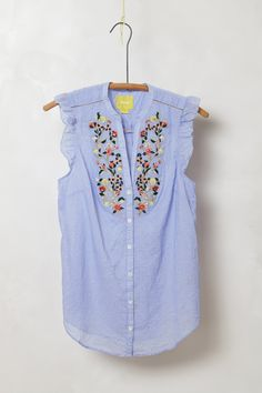 Threadbloom Blouse / Anthropologie