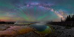 The Milky Way Over Yellowstone is Impossibly Beautiful
