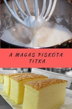Eddig nem tudtam piskótát sütni, de ez nemek is megy! Hungarian Desserts, Hungarian Recipes, Good Foods To Eat, Food To Make, Cookie Recipes, Dessert Recipes, Baking And Pastry, Sweet And Salty, Relleno
