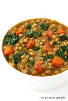The Garden Grazer: Lentil Spinach Soup