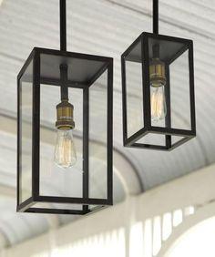 Southampton 1 Light Small Exterior Pendant in Antique Black | Pendant Lights | Lighting
