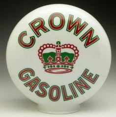 Original 1-Piece Etched Crown Gas Globe