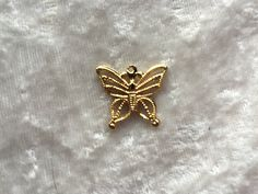 Delicate Gold Tone Filligree Butterfly Pendant - pinned by pin4etsy.com