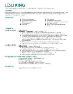 Yoga Teacher Resume Mla Style & Format 8Th Edition Citations Instructions Practice