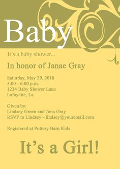 Baby Shower InvitationScroll and by InvitesToYou on Etsy, $10.00