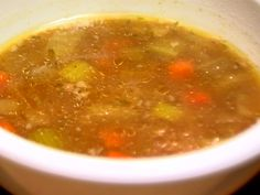 Rich Beef Barley Soup from FoodNetwork.com