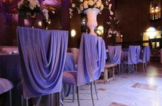 Gorgeous Draped chairs