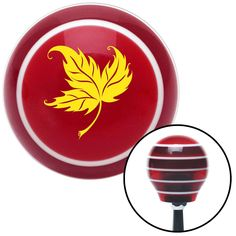 Yellow Falling Leaf Red Stripe Shift Knob with M16 x 15 Insert - Give your interior the ultimate look. American Shifter's Elite(TM) series shift knobs are made from the highest quality components resulting in a superior feel on every shift. Each shift knob is designed and customized in the USA by skilled shift knob artisans who have a trained eye on every detail. American Shifters shift knobs offers an exclusive aluminum threaded insert designed to be screwed onto your shift arm. You should…