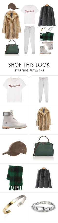 """Без названия #95"" by kmarina ❤ liked on Polyvore featuring Marc Jacobs, Zoe Karssen, Timberland, Overland Sheepskin Co., Fendi, Loewe, Stephanie Kantis and David Yurman"