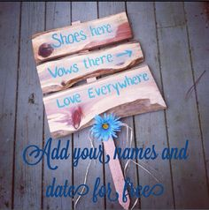 Shoes here vows there love everywhere beach by SawmillCreations, $39.00 (lose the flower!)