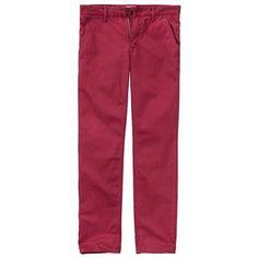 Timberland - Pantalon Chino Thompson Lake Twill Homme - Coupe Slim - beet red
