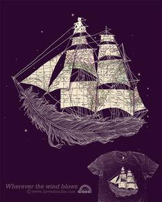 ptrckevns: This is the winning design from the travel-inspired t-shirt design contest with did with Threadless. The shirt was the first to have a company logo printed on the inside.
