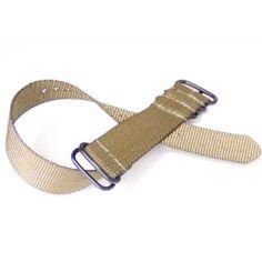 Zulu NATO Ballistic Nylon Watch Strap 22mm 5-Ring Tan | Pebble Watch Bands