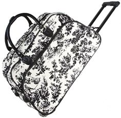 World Traveler French Toile Rolling Wheeled Duffle Bag 21-inch > Hurry! Check out this great product : Christmas Luggage and Travel Gear