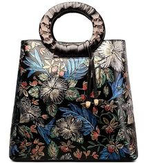 Fengyaqiandai Vintage Style 6013 Designer Ladies Leather Satchel Long Handbags featuring polyvore, women's fashion, bags, handbags, man bag, satchel handbags, genuine leather handbags, hand bags and leather handbag purse