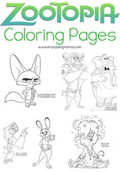 Bring The Movie Home With These Fun Zootopia Coloring Pages Print As Many You