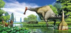 Deinocheirus by Andrey Atuchin