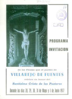 Fiestas en honor del Cristo de los Pastores en Villarejo de Fuentes (Cuenca). Del 28 de mayo al 1 de junio de 1977. Tradicional Ofrecimiento subastándose los productos ofrecidos en honor al Patrón. #Fiestaspopulares #VillarejodeFuentes #Cuenca