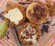 The Almond Flower: Cream Cheese Pumpkin Muffins Three Ways (Gluten, Grain and Sugar Free) these look hella scrumptious.