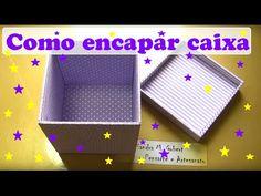 COMO ENCAPAR CAIXA COM TECIDO - YouTube