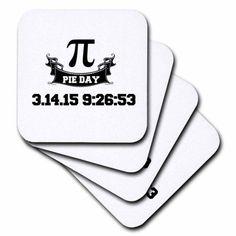 3dRose Pi Day, Soft Coasters, set of 8