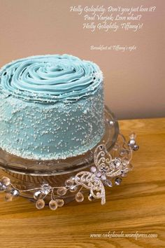 Champagne Layer Cake inspired by Breakfast at Tiffany's