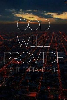 God will provide. Always.