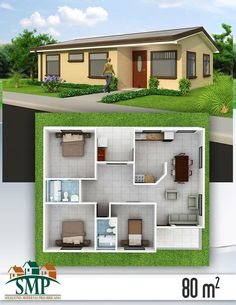 All Time Modern House Designs – My Life Spot 3d House Plans, House Blueprints, Bedroom House Plans, Dream House Plans, Modern House Plans, Small House Plans, Simple House Design, Modern House Design, Bungalow Haus Design