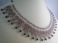 Beaded Collar Necklace - Amethyst and Purple Necklace - Seed Bead Jewelry - Beadwork Necklace - Beaded Jewelry