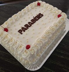 Cake Decorating Videos, Cake Decorating Techniques, Nutella Birthday Cake, Hello Kitty Birthday Cake, Rectangle Cake, Birthday Sheet Cakes, Dad Cake, Cake Sizes, Beautiful Birthday Cakes