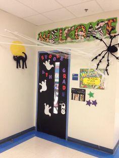 School door Halloween
